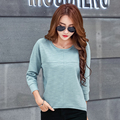 Women Long Sleeve T Shirt 2016 Autumn Fashion Korean Clothes O-neck Loose Tops New Casual Tee Shirt Femme Plus Size High Quality