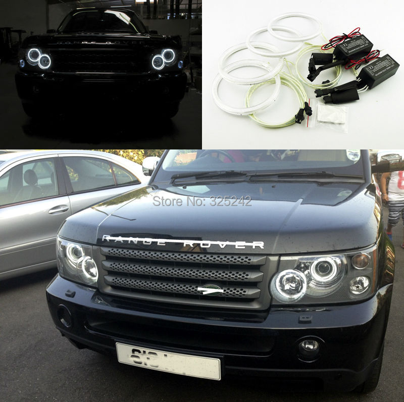 For Land Rover Range Rover L322 2002 2009 Excellent Angel Eyes kit Ultrabright headlight illumination CCFL