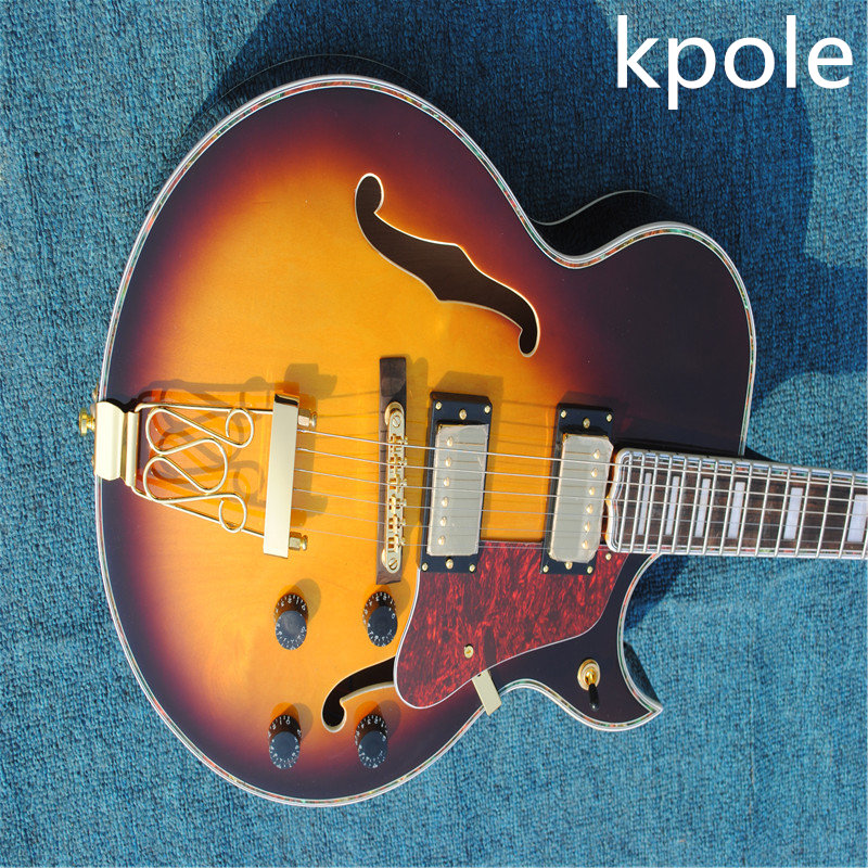 hot buy sir kpole guitar custom shop 335 jazz electric guitar free shipping picture real shot. Black Bedroom Furniture Sets. Home Design Ideas