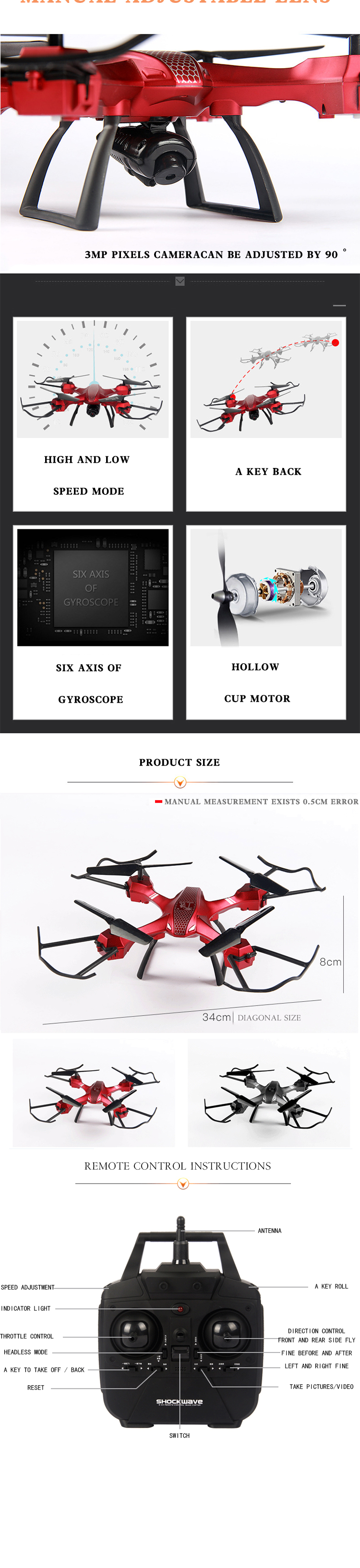 Quadcopter discount Foldable multicopter 3