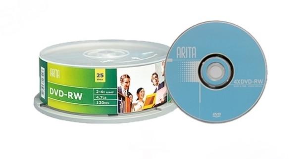 ARITA rewritable DVD-RW 4.7 GB 4X25 cái/lô miễn phí vận chuyển