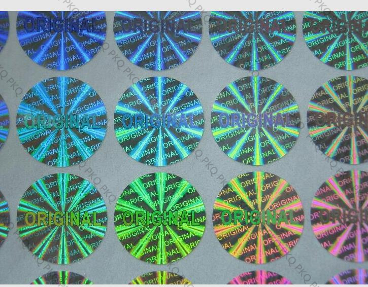 Image 3 - Autocollant ORIGINAL dhologramme de Laser 15mm diamètre argent/or joint de garantie ORIGINAL étiquette dhologramme de laser autocollant Anti fauxPapeterie Autocollant   -