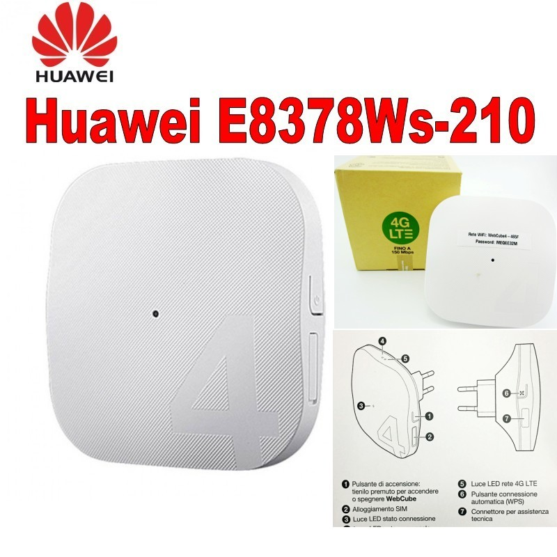 Unlocked webcube4 Huawei E8378 E8378Ws 210 4G wifi router 4G wireless cpe router