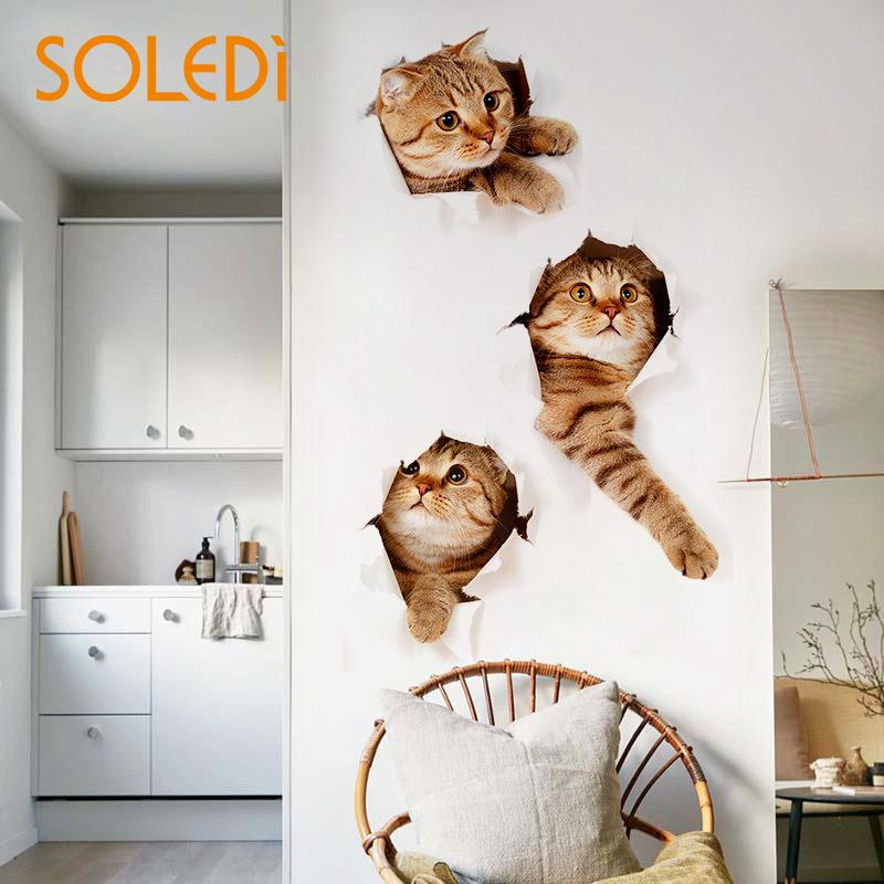 3D Weight: 75g Fashion Wallmuralsticker Sticker Size: 60*40*0.1cm Kitchen & Dining Bathroom Wall Sticker Drop Shipping ...
