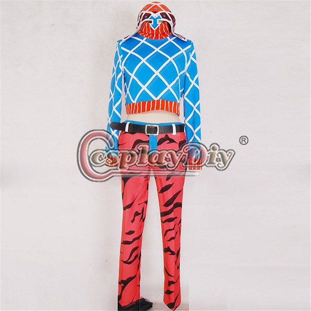 Cosplaydiy JoJos Bizarre Adventure Cosplay Costume Guido Adult Halloween Clothes Custom Made D0728