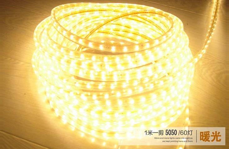 Super jasný pás 5050 LED110V- 120V vysoký typ Tepelně bílý typ - LED Osvětlení