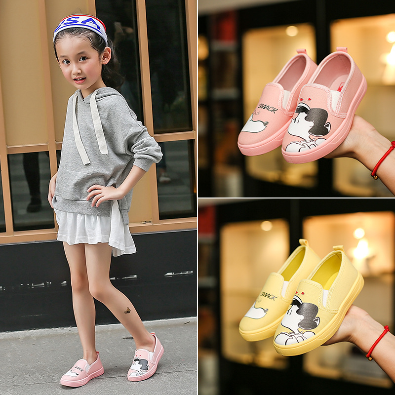 Kinderen Canvas Schoenen Lente Meisje Comfortabele Platte Schoenen - Kinderschoenen - Foto 2