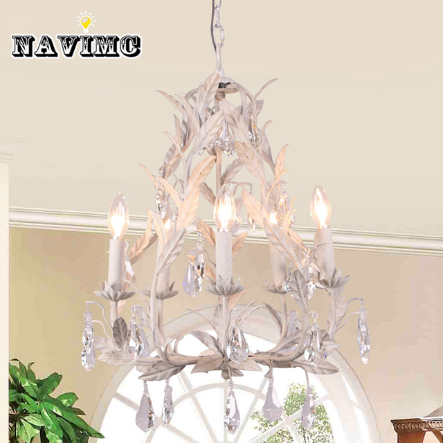 American Countryside Antique White Crystal Chandelier With Branch Tree for  Dining Room Living Room Girl Princess - American Countryside Antique White Crystal Chandelier With Branch