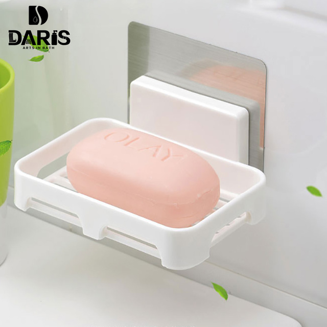Etonnant SDARISB Kitchen Tools Bathroom Accessories Plastic Silicone Soap Dish Set  Storage Basket Soap Box Stand Bath