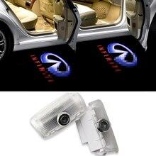 2X Car Styling Car Welcome Door Light for Infiniti FX35 X25 G25 G37 M25 M35 QX JX Voyant De Porte De Voiture No Drilling