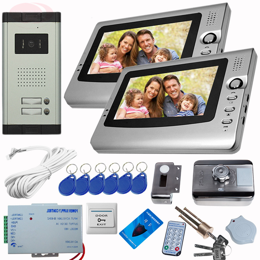 Sunflowervdp 7inch Color Screen Video Door System With Rfid Unlock