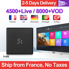 Leadcool S1 Full HD Lives IPTV France Arabic French Italy IP TV 1 Year SUBTV RK3229 1+8G Android 8.1 Box Like X96 Mini
