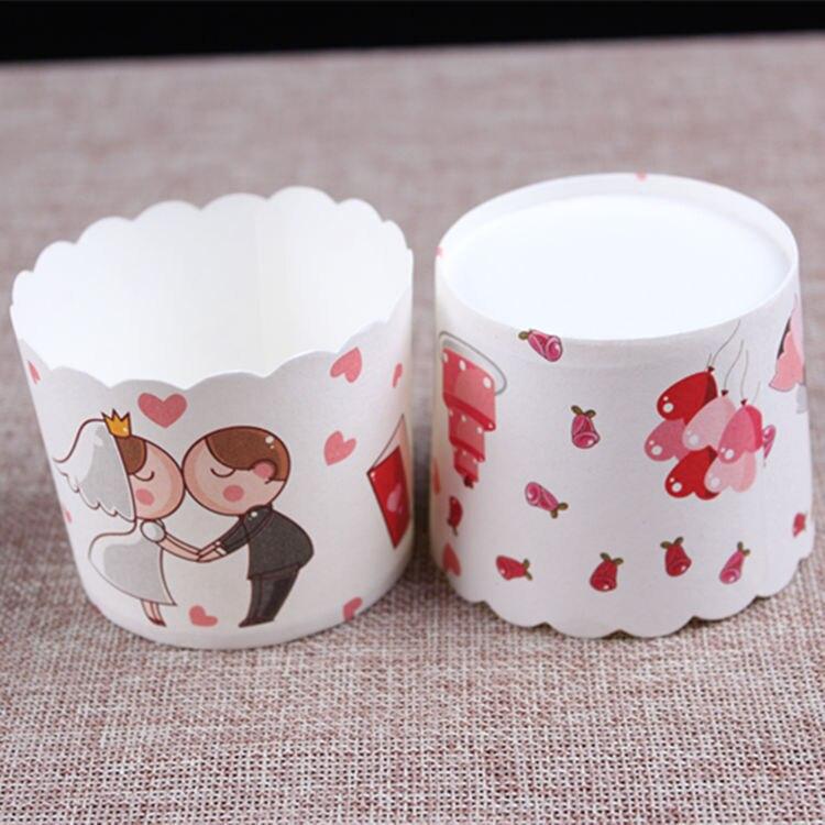 Rosa grüne Liebe Backzubehör Lifet 100 stücke Einweg Cupcake Wrapper Papier Kuchen Backen Cups Liner Muffin Fall Werkzeuge