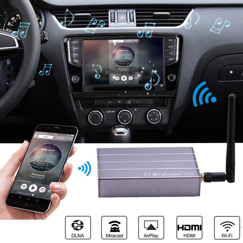 Car Wireless WiFi Display Dongle Video Adapter Car GPS Navigation Screen Mirroring for iPhone X 6 7 8 Plus Android Phone Pad TV
