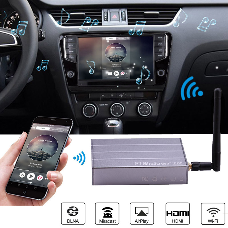 Car Wireless WiFi Display Dongle Video Adapter Car GPS Navigation Screen Mirroring for iPhone X 6 7 8 Plus Android Phone Pad TVCar Wireless WiFi Display Dongle Video Adapter Car GPS Navigation Screen Mirroring for iPhone X 6 7 8 Plus Android Phone Pad TV