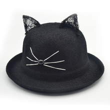 Cotton Cat print Bucket Hat Fisherman outdoor travel hat Sun Cap for Men and Women Harajuku hats