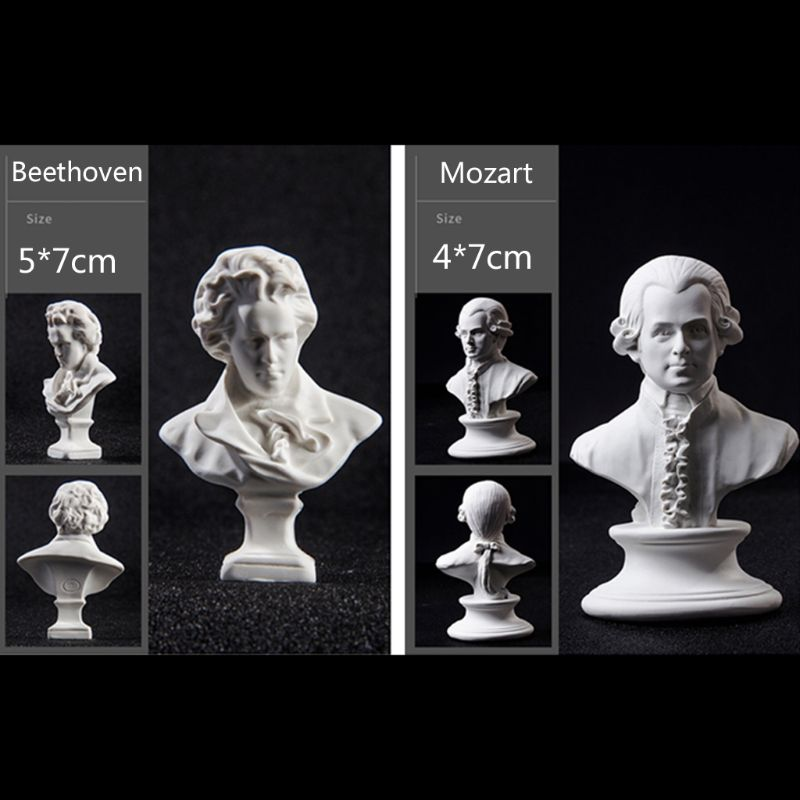 Artists Figure David Beethoven Head Plaster Silicone Mold Resin Casting Mold DIY