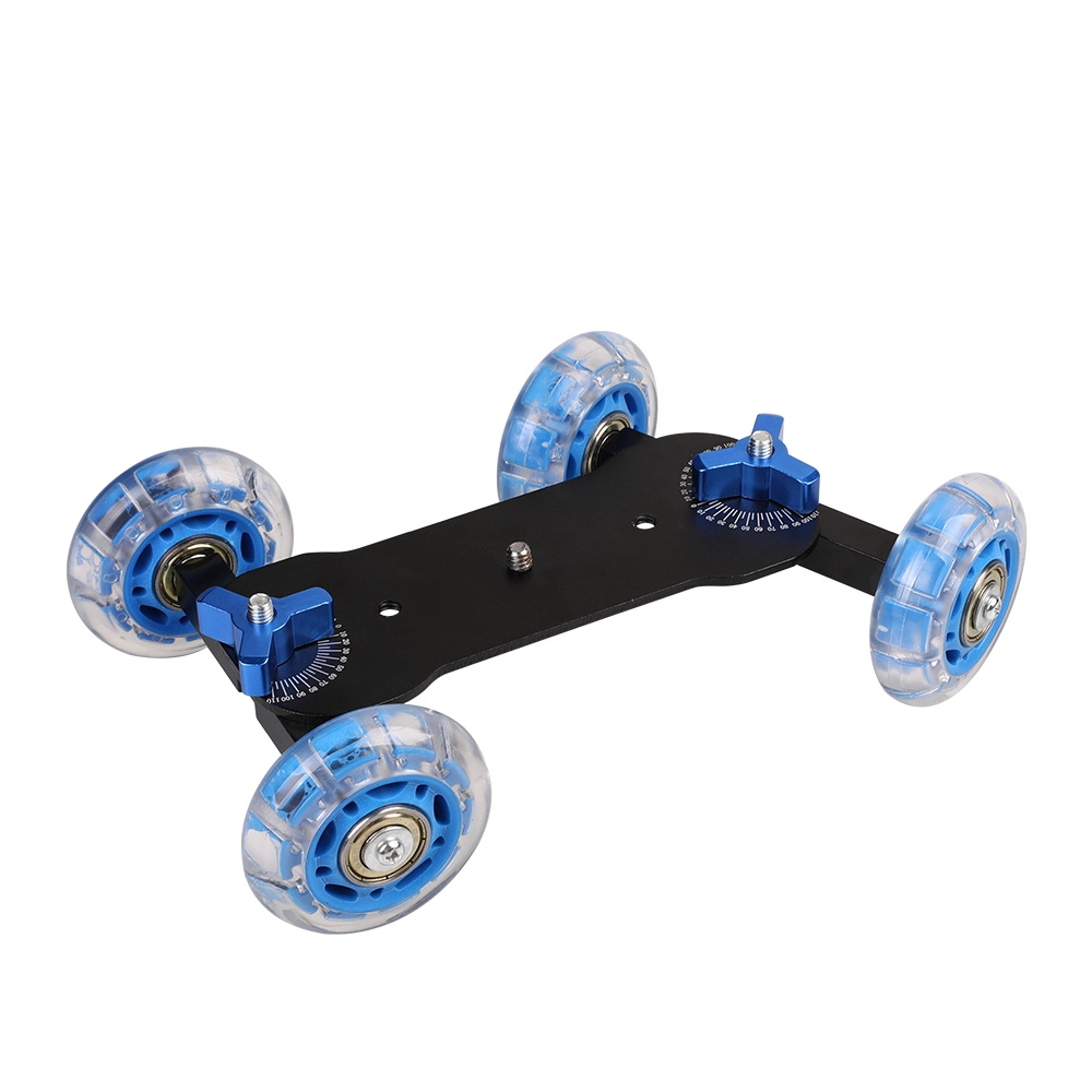 DSLR Camera Video Photograph Rail Rolling Track Slider Skater Table Dolly Car Blue Flexible For Speedlite 5d2 7D 60D image