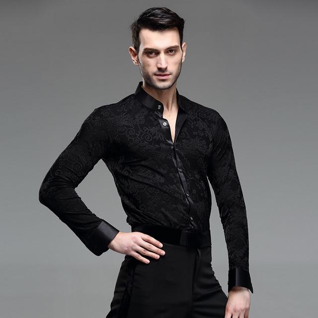 b8538e63 US $42.11 15% OFF|Do tańca towarzyskiego koszula mężczyzna łacińskiej  koszula mężczyzna balowej koszule męska latin kostiumy do tańca taniec ...