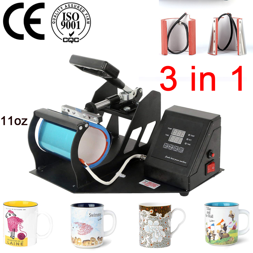 double display 3 in 1 Mug Press Machine Sublimation Printer Heat Transfer Mug Printing Machine for Mug Cup 11/12OZ/17ozdouble display 3 in 1 Mug Press Machine Sublimation Printer Heat Transfer Mug Printing Machine for Mug Cup 11/12OZ/17oz