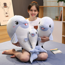 New 1pc 40/60/80CM New Kawii Yangtze Porpoise Pillow Doll Plush Toys Dolphins Doll For Kids Boys Girls Birthday Christmas Gift стоимость