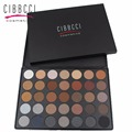 Cibbcci Professional Makeup Eyeshadow Pallet 35 colors Earth smoky Makeup Shimmer Matte EyeShadow 35C