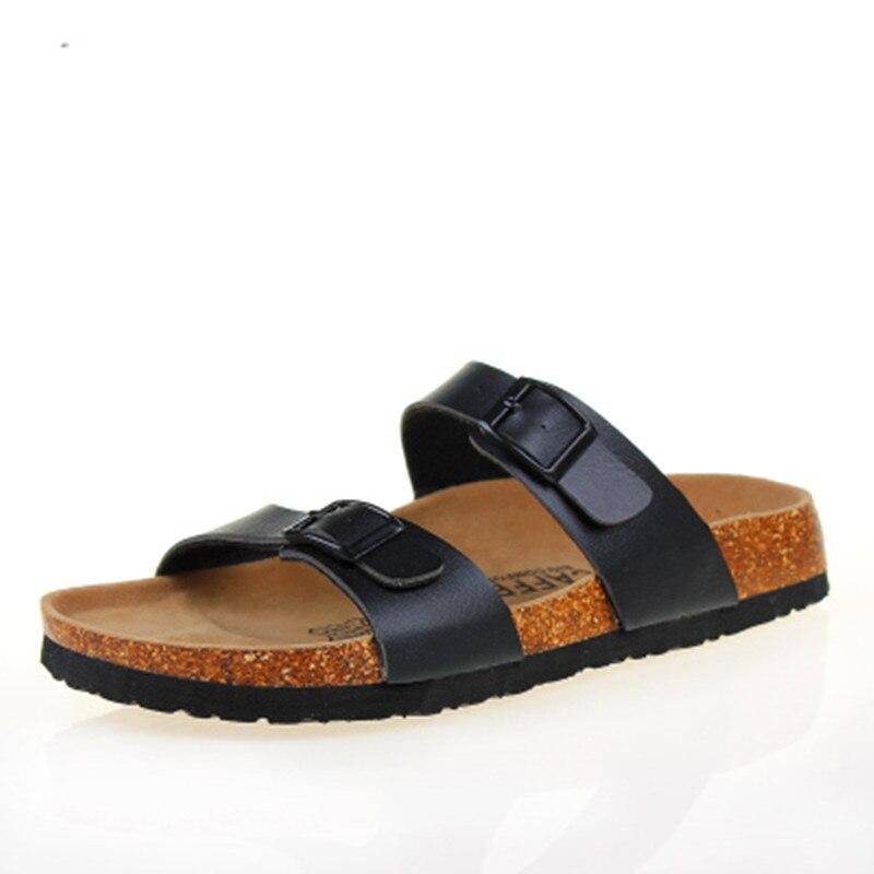 2019 New Summer Cork Slippers Shoe Women Casual Mixed Color PU Flip Flops Beach Sandal Slides Flat Free Shipping Plus Size