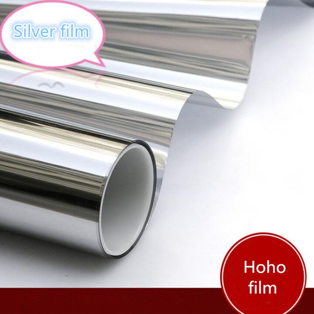 20% Silver&silver Mirror Reflective One Way Mirror Film Window Film Glass Solar Tint 60''x20''(152cm x 50cm)
