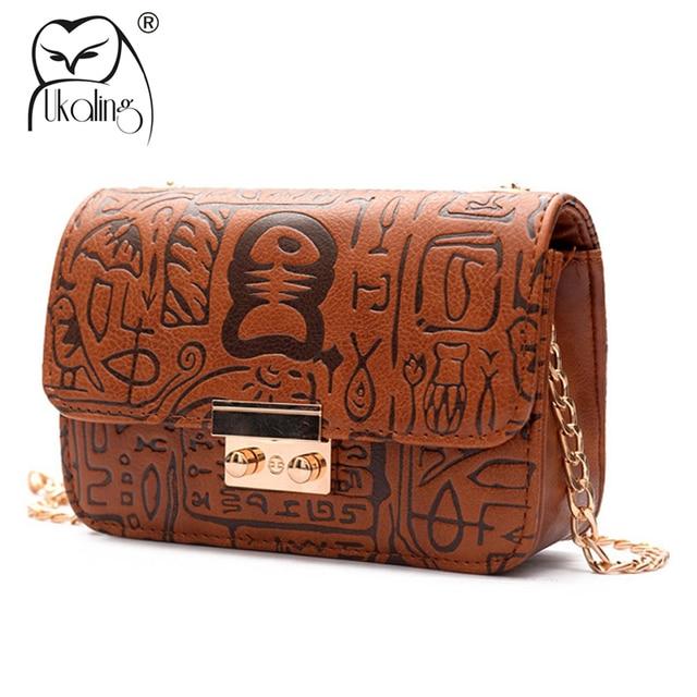 11e957d6a83c UKQLING Brand F Women Messenger Bags Vintage Designer Handbags Chain Shoulder  CrossBody Bag Lady Flap Handbag