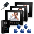 9 Inch CMOS 30M pixels Video Intercom Door Camera Home Entry Intercom 1 Camera 3 Monitor Support Remote&RFID unlock