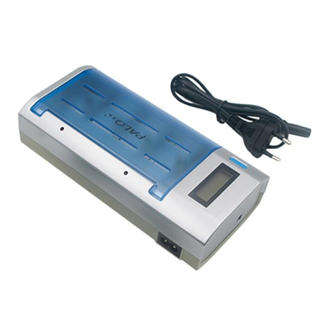 4 Слотов Универсальный Смарт ЖК Зарядное Устройство для AA, AAA, C, D 9 В Аккумуляторы ЕС Plug Hot Promotion