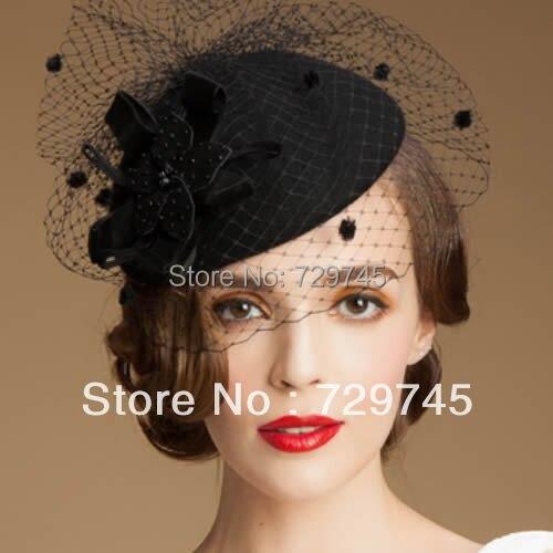 Women Vintage Black Wool Netting Winter Fashion Dress Veil Beret Hat Berets  Wedding Veils-in Bridal Veils from Weddings   Events on Aliexpress.com  c95724a7ef3