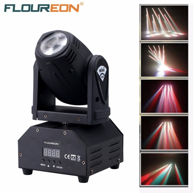 Floureon 50W LED Mini Moving Head Beam Light,4in1 RGBW Cree LED,DMX512 11/13 CH Disco Stage lighting For DJ Pub,KTV,Night Party