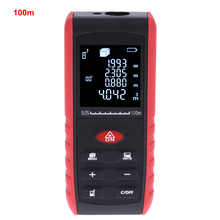 Cheapest prices Handheld Laser Rangefinder 40m 60m 80m 100m Telemetro Laser Digital Diastimeter Leveling with Pratractor Area Volume Meter