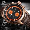 Ochstin deporte relojes de los hombres top luxury brand reloj de los hombres del ejército militar relojes reloj masculino lether cuarzo reloj relogio masculino