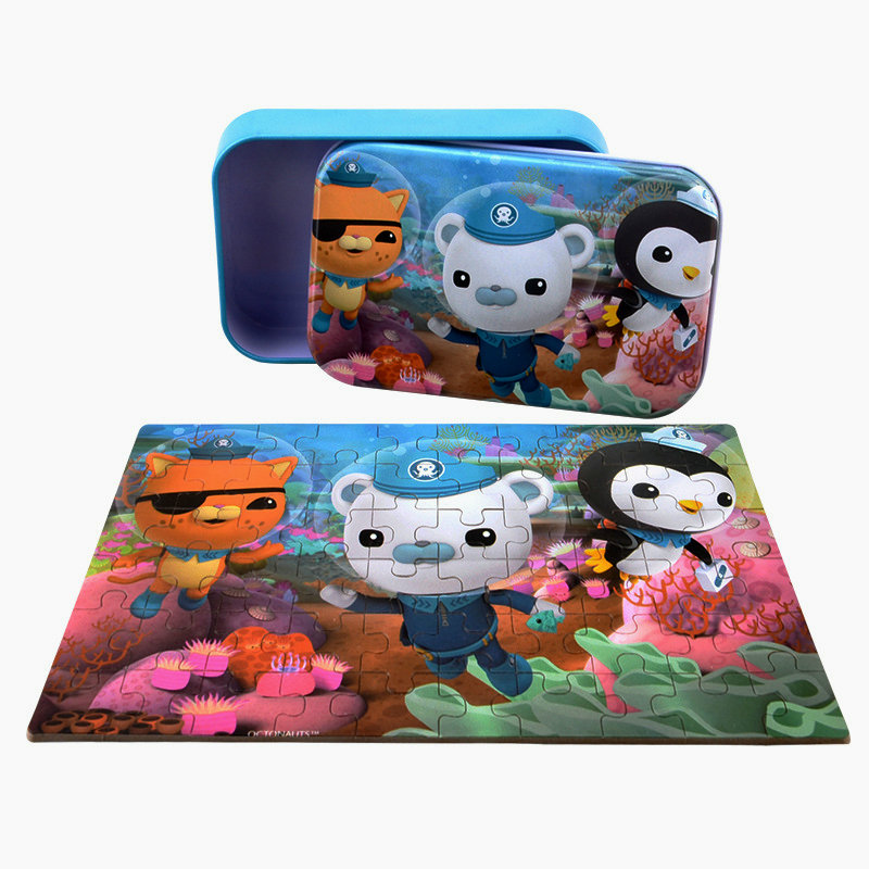 60 Pieces Wooden Puzzle Toy, Kids Cartoon Animals Jigsaw Puzzles Educational Toy, Toys For Children Kindergarten Supplies Puzzle