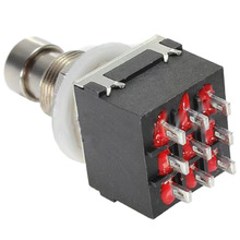 10 Pcs 9-pin 3PDT Guitar effects Self-locking Button switch