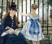 Galerie Qualität Kunst Die Eisenbahn durch Edouard Manet Ölgemälde auf Leinwand Wohnzimmer Wandkunst Kein Rahmen Klassischen