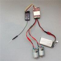 20A x 2 양방향 브러시 ESC 듀얼 웨이 ESC 전자 레귤레이터 (RC DIY 보트 제어 부품 용 고속 380 모터 포함)