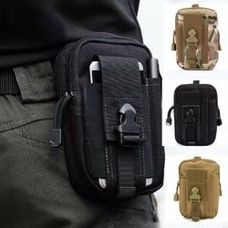 Táctico funda Universal militar Molle bolso de correa de cintura de cadera monedero bolsa caso del iPhone teléfono monedero con cremallera para teléfono