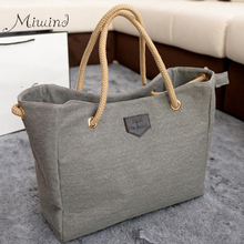 2016 new style women handbag fashion shopper big canvas tote sling bags over shoulder bolsas ladies casual high quality solid