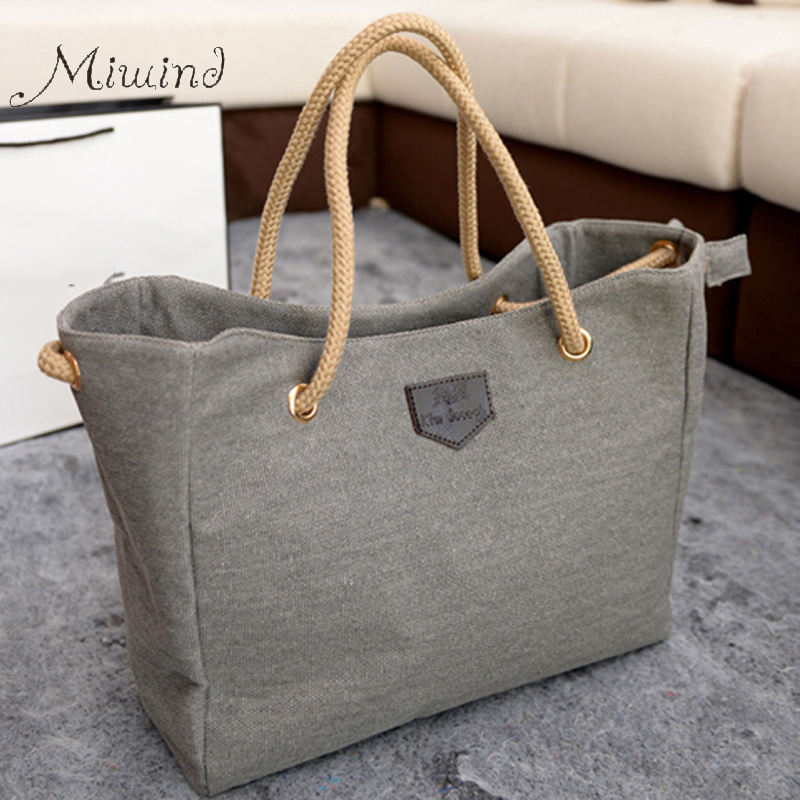 Women Handbag Fashion Shopper Big Canvas Tote Sling 2017 New Style Bags Over Shoulder Bolsas Ladies Casual High Quality Solid