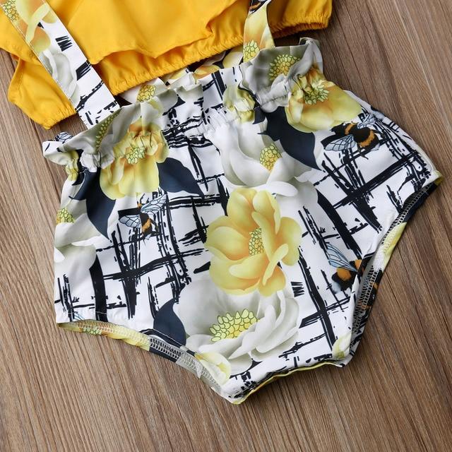 одежда для новорожденных девочек укороченный топ без рукавов фотография