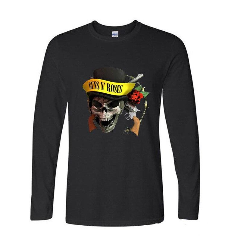 2017 New Summer Funny Tee guns n roses funny Long TShirts long sleeve T Shirt men