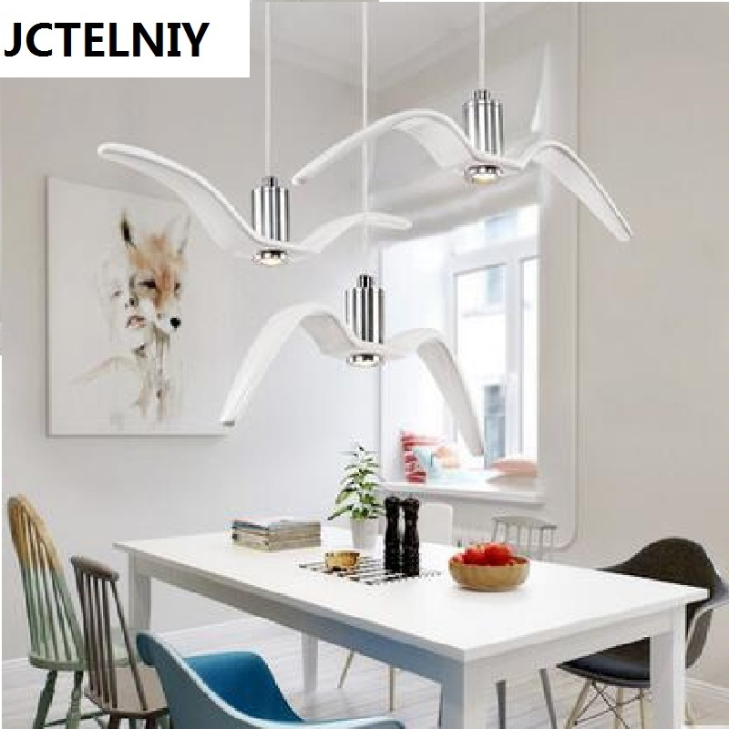 Dining room pendant light fashion personalized bar counter sea gull pendant light