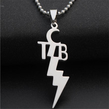 mens stainless steel Geometric pendant necklaces charms silver color sweater necklaces pendants for women choker fashion jewelry