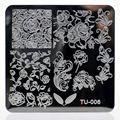 10PCS/Lot square TU01-47 Nail Stamping Plates Nail Art Image Konad Stamping Nail Art Plates stock template Nail Tool 6*6CM