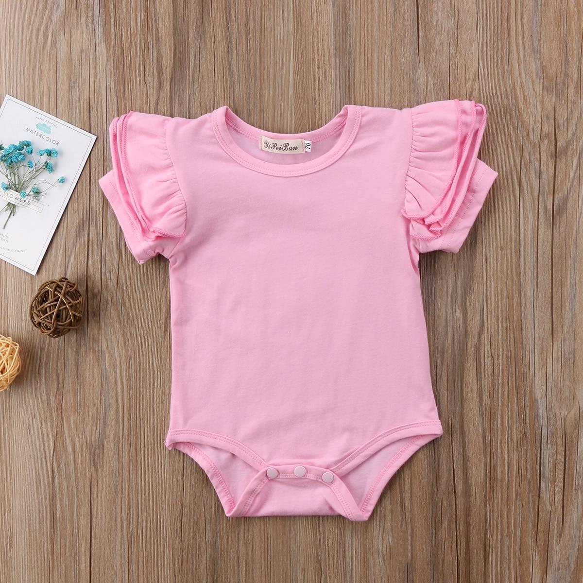 Новорожденных наряд для маленьких девочек комбинезон одежда в загородном стиле От 0 до 2 лет Одежда для малышей боди один штук трико