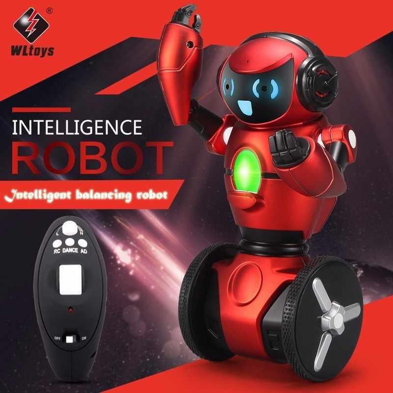 Origial WLtoys F1 2,4G RC игрушки робота 3-Axis Gyro интеллигентая (ый) гравитационный датчик баланс RC умный робот игрушка для детей