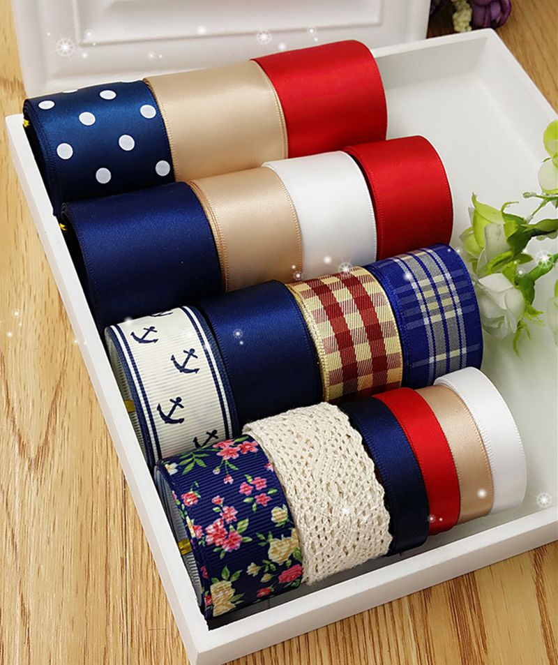 Mix 17meters Cartoon Colorfully Ribbon Set diy hair accessory material accessories for Grils gift wedding decorations